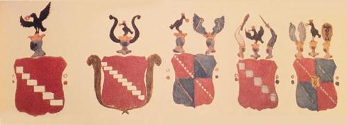 Evoluzione dello stemma della casata nobiliare dei Bonomo nei secoli
