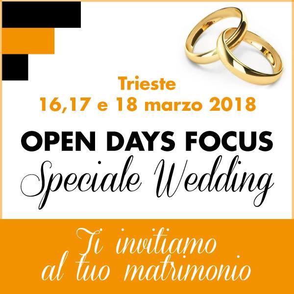 Open Days Focus – Speciale Wedding